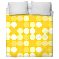Yellow Spots Bed Spread