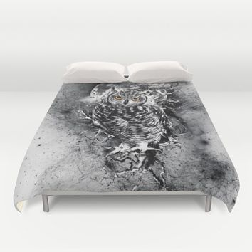 OWL BW Duvet Cover by RIZA PEKER