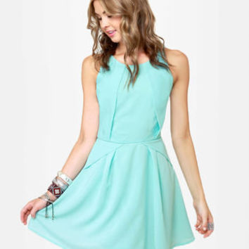 Pretty Light Blue Dress - Mint Blue Dress - Sleeveless Dress