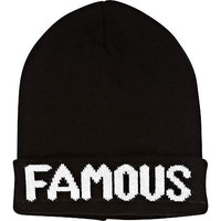 Black famous beanie hat - hats - accessories - women