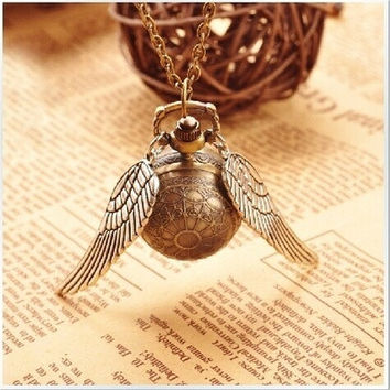 Superior     Pocket Watch, Vintage Golden Snitch Pocket Watch, Best Gift to Harry Potter Fans [8802170636]