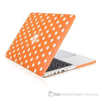 """Orange Polka Dot Design Ultra Slim Light Weight  Hard Case Cover for Apple MacBook Pro 13.3"""" with Retina Display Model: A1425 and A1502"""