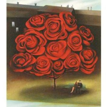 Tree of Love - Limited Edition Giclee on Hahnemuhle Paper by Berit Kruger-Johnsen
