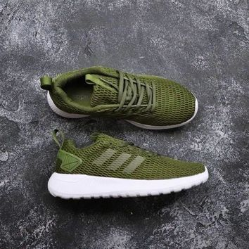 Adidas Neo Cloudfoam Life Racer Cc Olive Green White