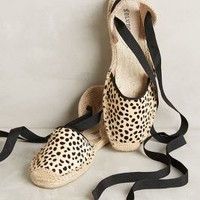 Soludos Spotted Espadrilles in Neutral Size: