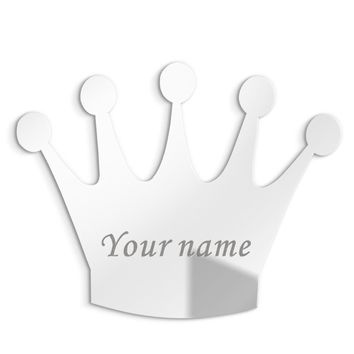 3MM Personalised Acrylic Princess Mirror Custom Queen Crown Wedding Crown Decor Mirror Sticker with Self-Adhesive Party Favor