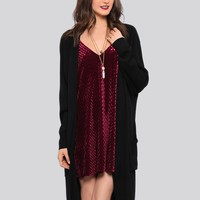 Coven Oversize Cardigan - Black - What's New | GYPSY WARRIOR