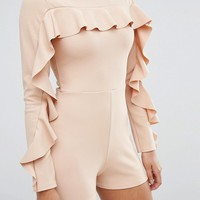 Missguided Ruffle Detail Romper at asos.com