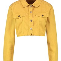 Mustard Denim Jacket | Boohoo
