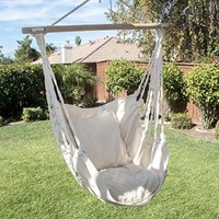ARKSEN© Outdoor Hanging Cotton Pillow Hammock Chair Swing Furniture, Natural White