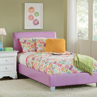 Lavender and White Twin Youth Bed