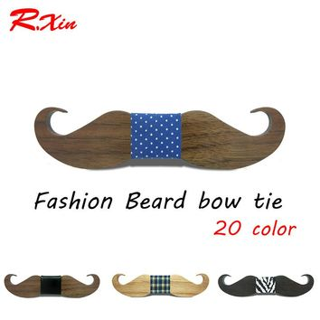 New design Fashion Geometric Gravata Adult Business Wood Beard Bow tie Mens Party tie Bowties DIY private custom Ties
