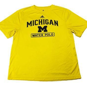 Adidas Michigan University Water Polo Athletic Shirt Mens Size Medium