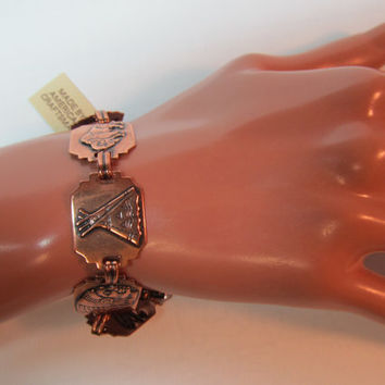 Hnadcrafted Copper American Indian Design Bracelet, NWT