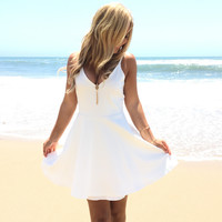 Magical Skater Dress In White