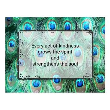 Inspirational Quote On Kindness Spirit And Soul Postcard
