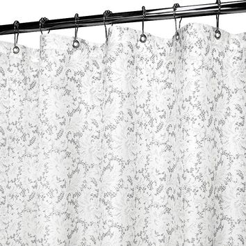 Watershed by Park B. Smith Victorian Lace Stall Shower Curtain (White)