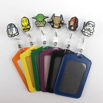 1Pcs High Quality Cartoon Star Wars Retractable Badge Reel Student Nurse Exihibiton ID Name Card Badge Holder Office Supplies