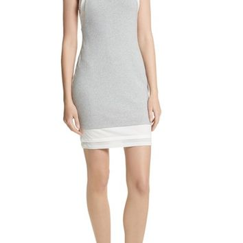 Alexander Wang Layered Mixed Media Dress | Nordstrom