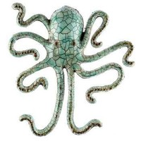 Seafoam Metal Octopus Wall Decor