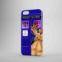 Beauty And The Beast Disney Tardis Police Box iPhone 5 Case