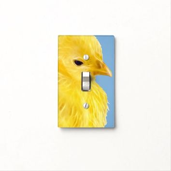 Cute yellow baby Chick Light Switch Cover