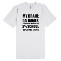 my brain percent song lyrics | Fitted T-shirt | SKREENED