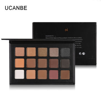 UCANBE Brand 15 Color Eyeshadow Makeup Palette Party style Highlighter Shimmer Matte Glitter Eye Shadow Cosmetics Kit Set