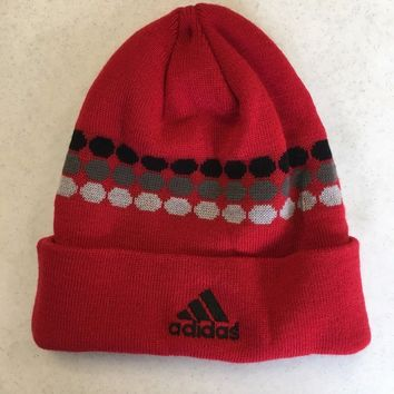BRAND NEW ADIDAS RED DOT MATRIX WINTER KNIT HAT SHIPPING