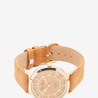 Faux Leather Strap Traveler Watch