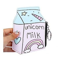 Unicorn Milk Keyring Coin Purse