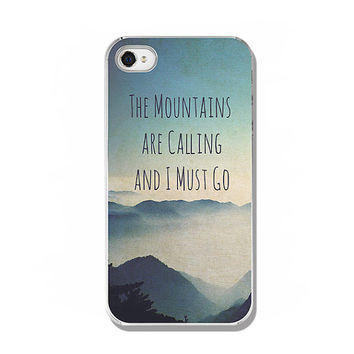 iPhone 6 6Plus iPhone 5 5S Samsung Galaxy iPad 2 3 4 Kindle Fire hard case inspirational quote gift idea photography blue mountains