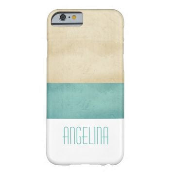 personalize stripes distressed shabby chic style barely there iPhone 6 case