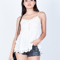 Crochet Trim Cami