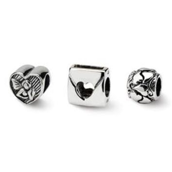 Sterling Silver Love Boxed Bead Set