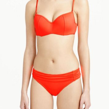 HOT PURE COLOR RED TWO PIECE BIKINIS