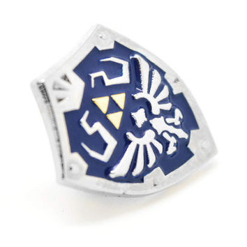 Zelda Inspired Hylian Shield Pin Badge