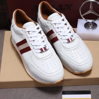 Bally Men Fashion Boots  fashionable casual leather  Breathable Sneakers Running Shoes Sneakers