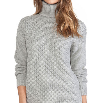 DemyLee Ruth Turtleneck Sweater in Gray