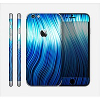 The Blue Vector Swirly HD Strands Skin for the Apple iPhone 6