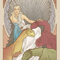 Mother of dragons Art Print by ElinJ
