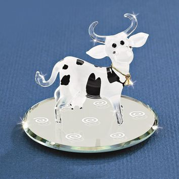 Ellie Bell Cow Glass Figurine