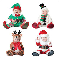 Christmas gift 2016 hot baby jumpsuit Santa Claus clothes kids overalls newborn boys girls romper children costume