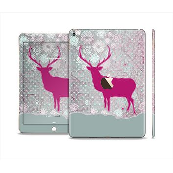 The Pink Stitched Deer Collage Skin Set for the Apple iPad Air 2
