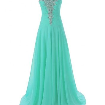 JAEDEN Women's Sweetheart Evening Dresses Chiffon Prom Gown