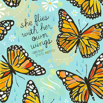 She Flies With Her Own Wings  -   vertical print