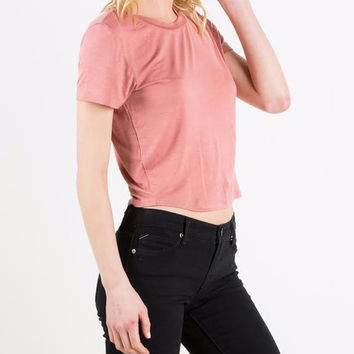 Semi Cropped Jersey Top