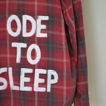 "Vintage twenty one pilots ""Ode To Sleep"" Flannel"