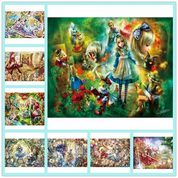 Full Square 5D DIY Diamond Painting Princess girl Diamond embroidery Kits Poster Pictures Alice in Wonderland Child gift ZC945