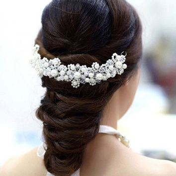 Wedding Hair Accessories for Bride Hairpins Beautiful Crystal Rhinestone Decorations Petal Hair Clip for Women para el pelo